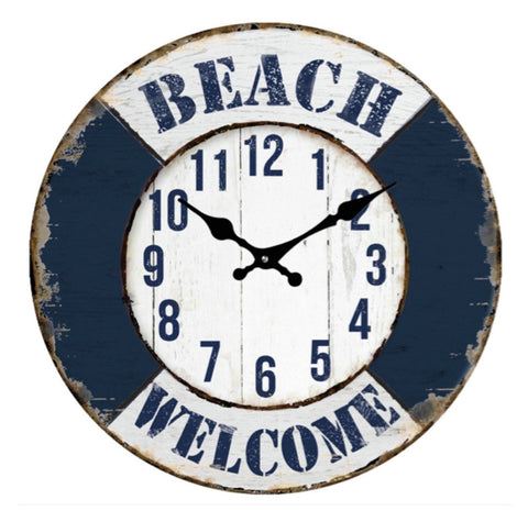 Clock Welcome Beach House