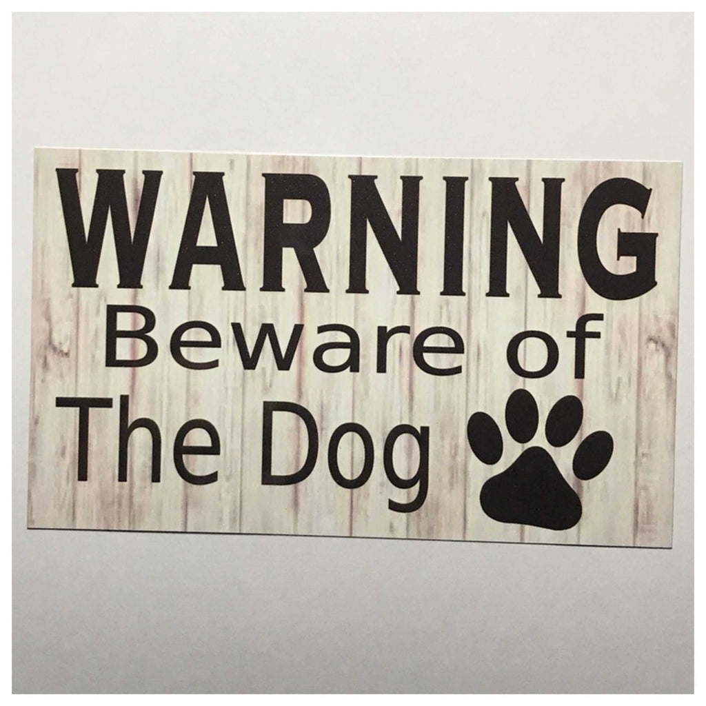 Warning Beware Of The Dog Sign Wall Plaque or Hanging - The Renmy Store