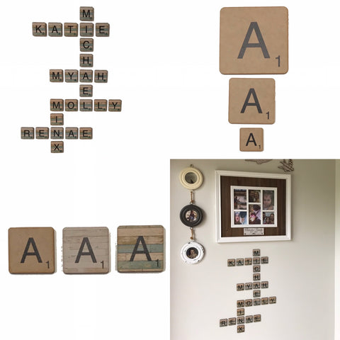 Scrabble Tile Art Craft Letter Alphabet Wooden | The Renmy Store