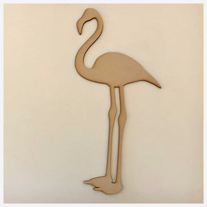 Flamingo Bird MDF Shape DIY Raw Cut Out Art Craft Decor