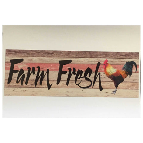 Farm Fresh Rooster Sign Plaques & Signs The Renmy Store