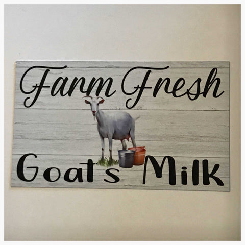 Farm Fresh Goats Milk Sign Plaque Or Hanging - The Renmy Store