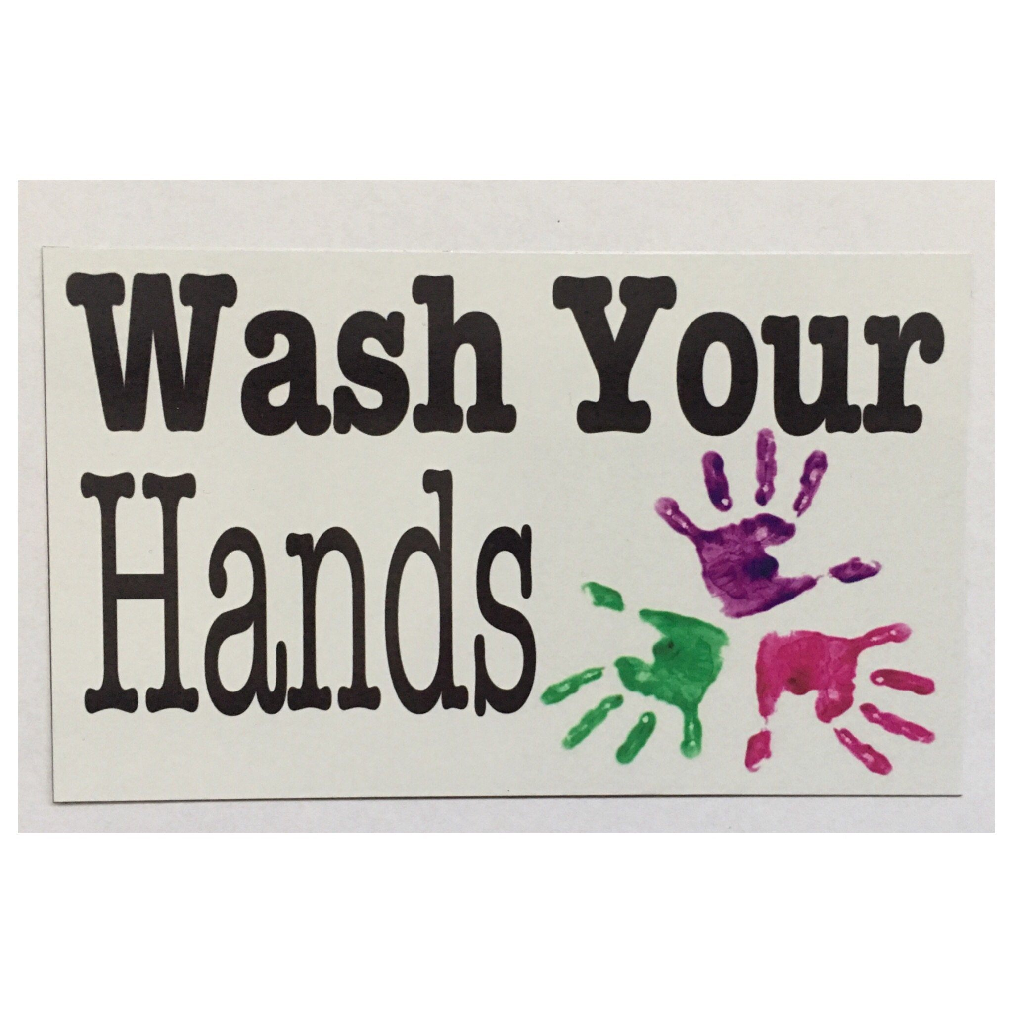 Wash Your Hands Kids Sign Wall Plaque or  Hanging