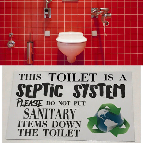 Toilet Septic System Bathroom Sign