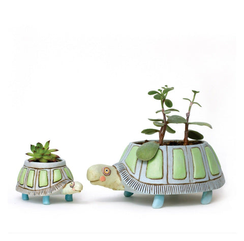 Turtle Pot Planter Small
