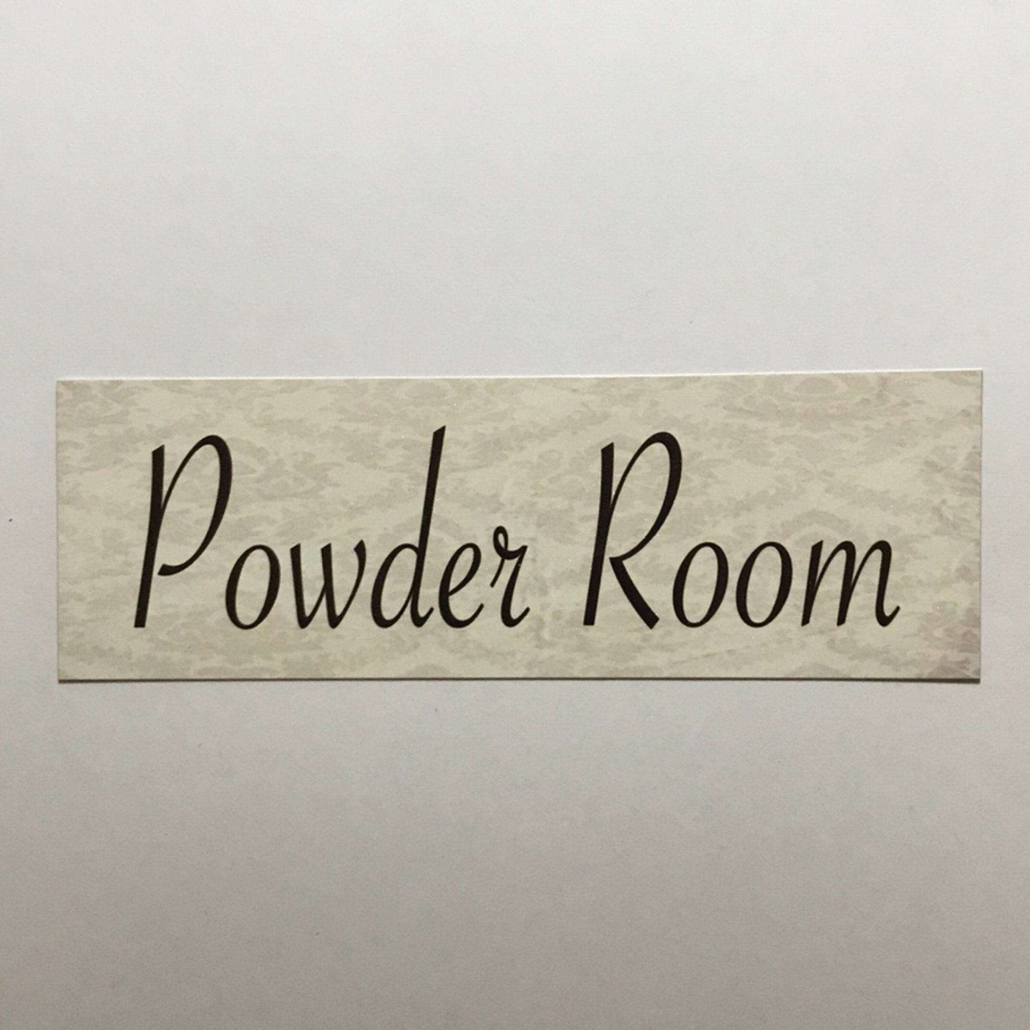 Powder Room Cream Sign Plaque or Hanging - The Renmy Store