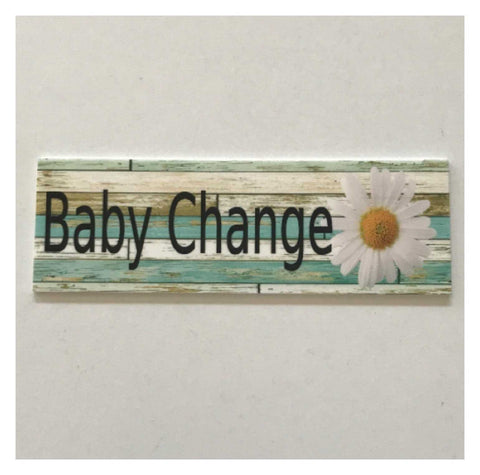 Baby Change with Daisy Sign Wall Plaque or Hanging | The Renmy Store
