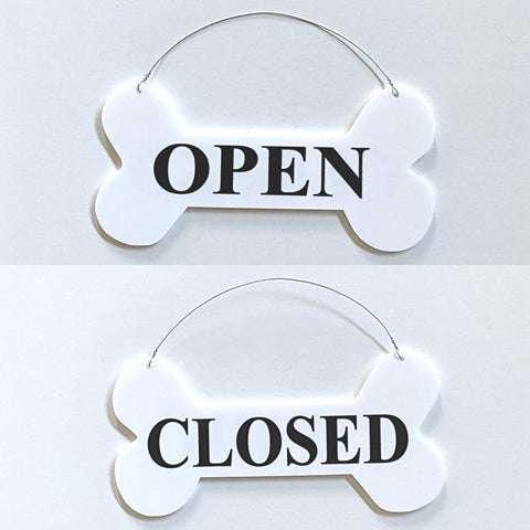 Open Closed Dog Bone Hanging Sign | The Renmy Store