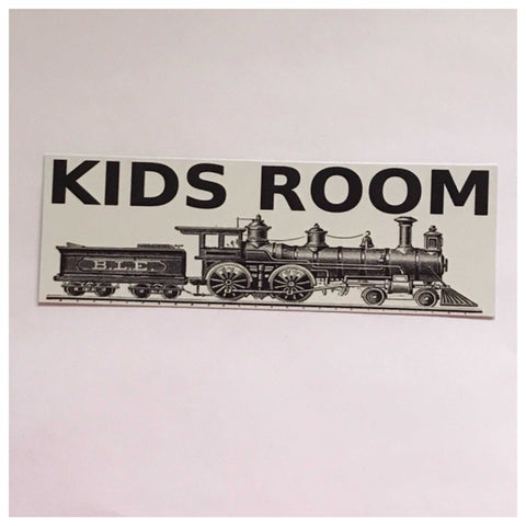 Kids Room with Train Children Sign Wall Plaque or Hanging - The Renmy Store