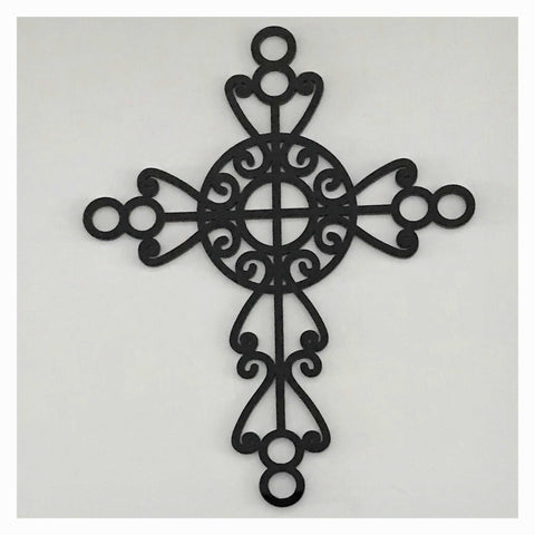Cross Boho Black Decorative Plastic Acrylic Religious Decor Other Home Décor The Renmy Store