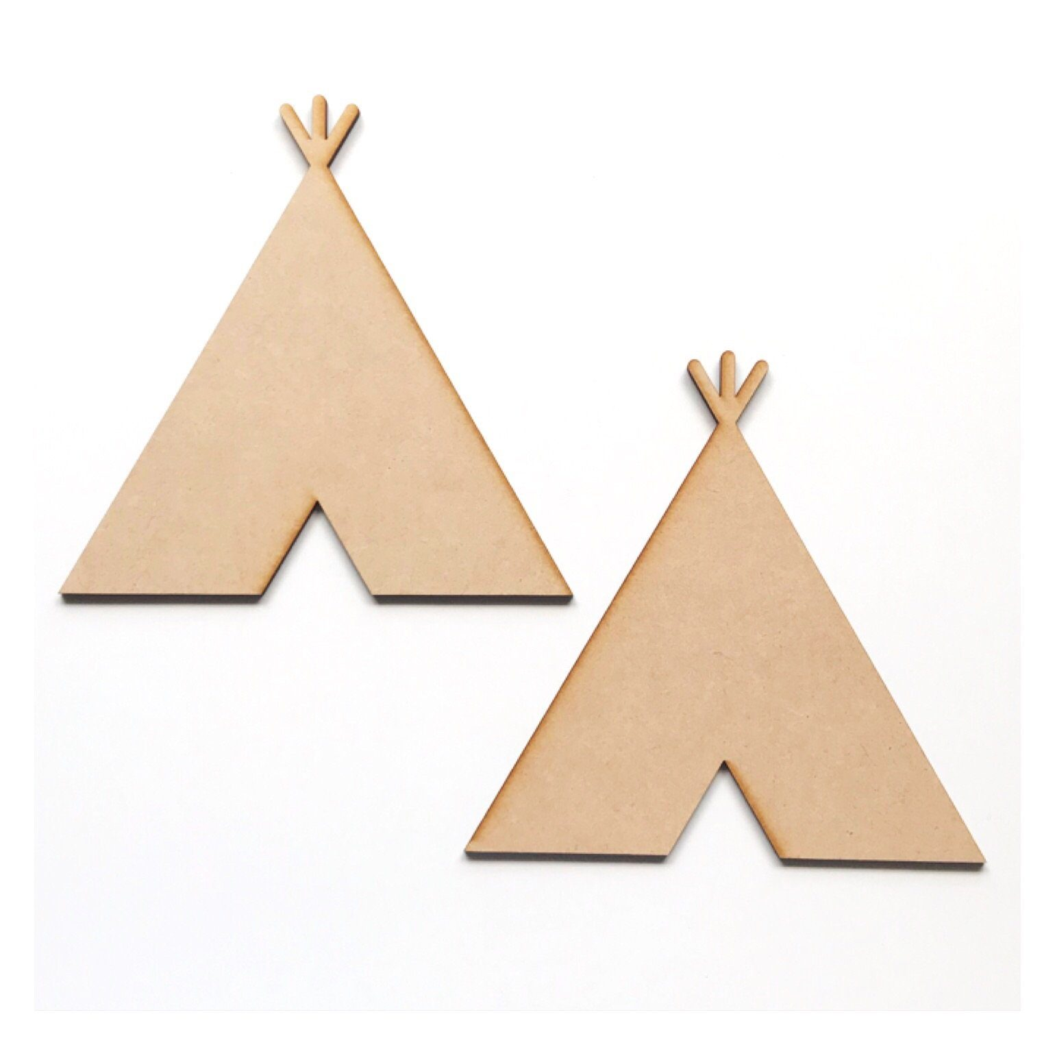 Teepee Tent Set of 2 Raw MDF DIY - The Renmy Store