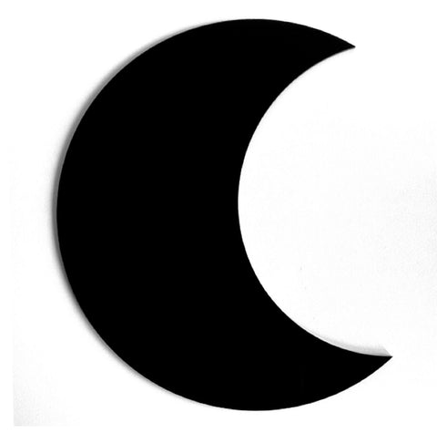 Moon Crescent Black or White Acrylic Decor