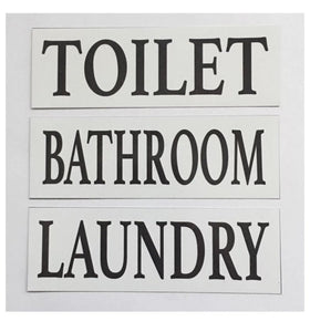 Toilet Laundry Bathroom White Door Room Sign