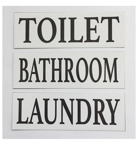 Toilet Laundry Bathroom White Door Room Sign Toilet Laundry Bathroom - The Renmy Store