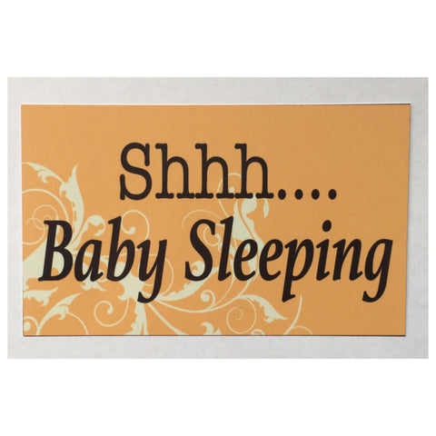 Shh Baby Sleeping Sign Wall Plaque or Hanging - The Renmy Store