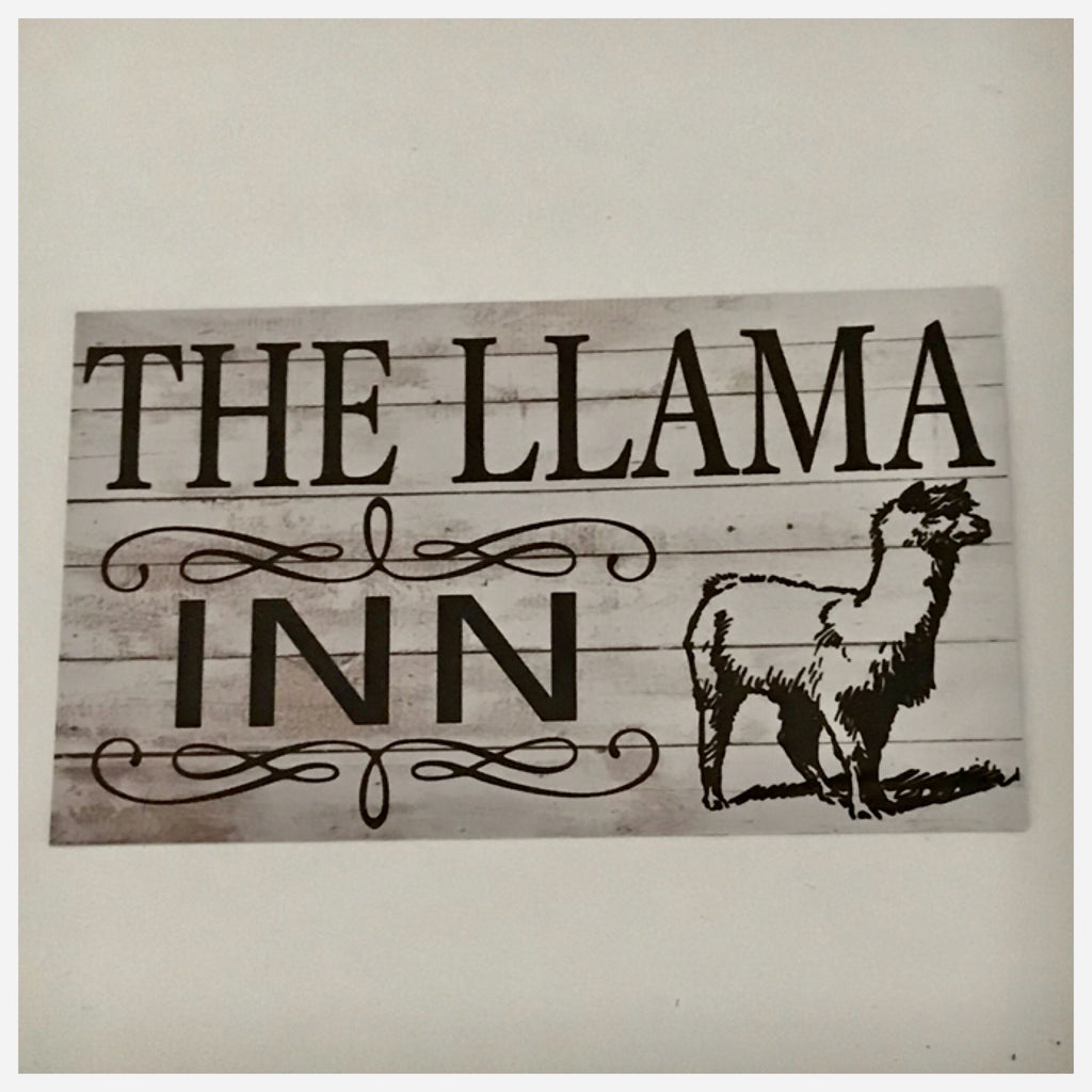 The Llama Lama Inn Sign Plaque Or Hanging - The Renmy Store