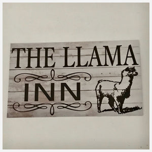 The Llama Inn Sign