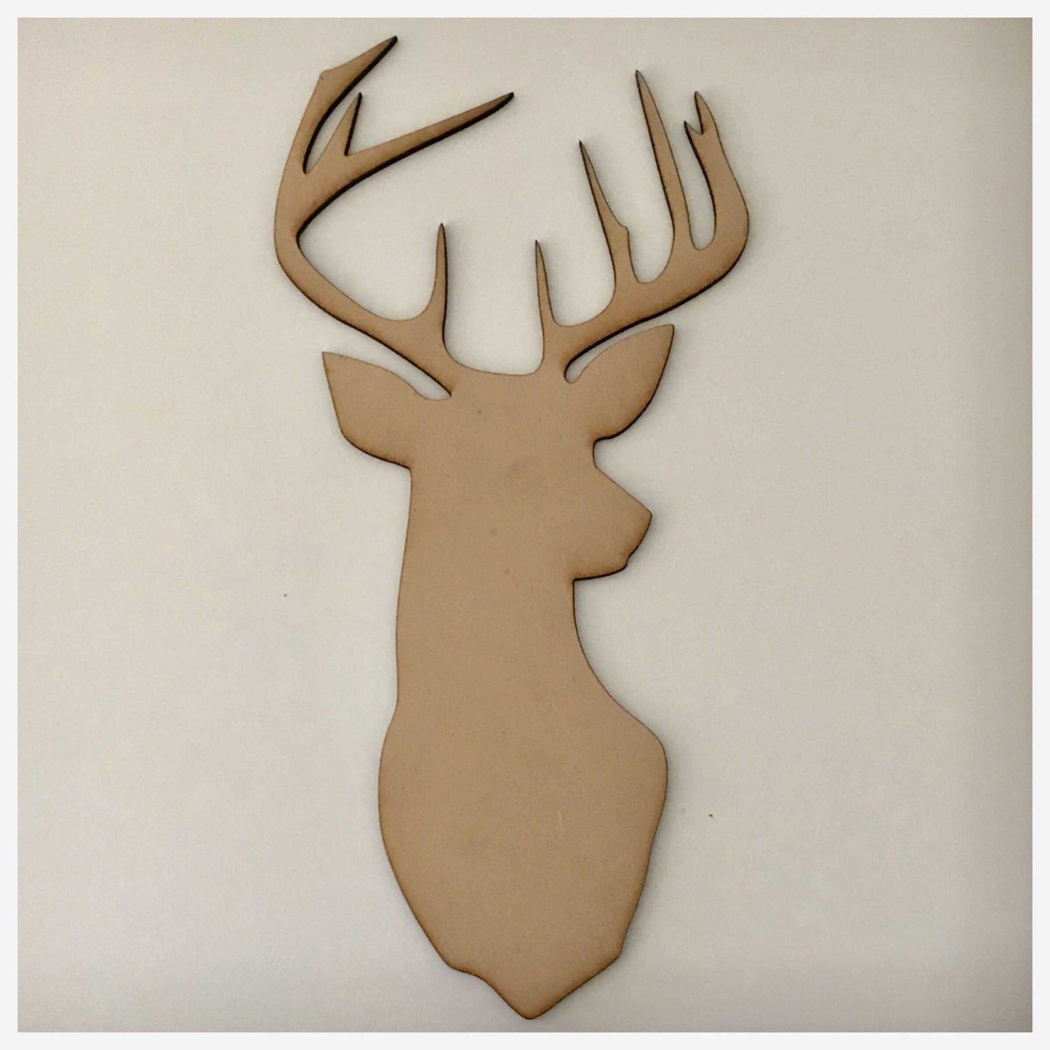 Deer Stag Reindeer Raw MDF Timber DIY Craft - The Renmy Store