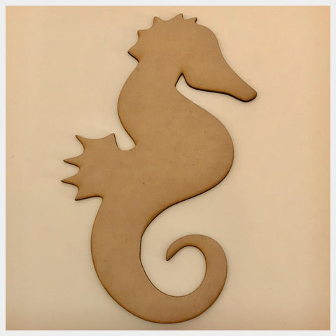 Sea Horse Ocean Beach House Wooden Raw MDF DIY Craft - The Renmy Store