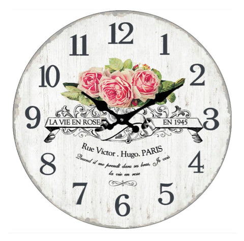 Clock Paris Rose