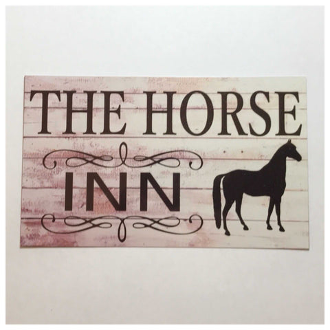 Horse Inn Sign Wall Plaque Or Hanging - The Renmy Store