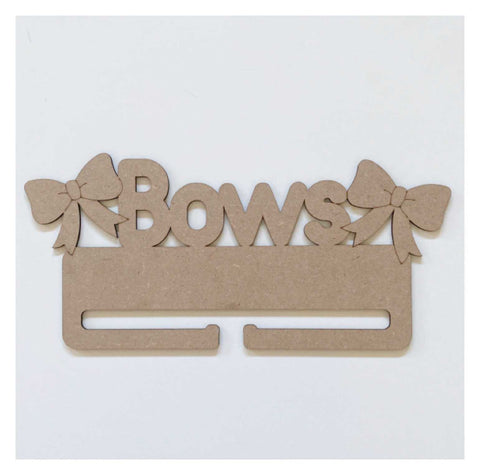 Bows Girls Bow Holder Organiser MDF Wooden DIY Craft | The Renmy Store