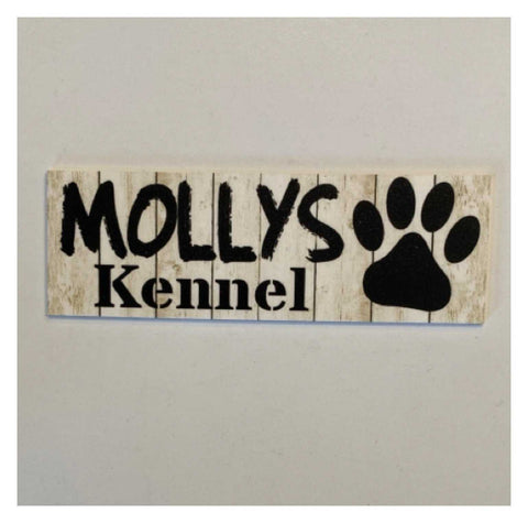 Dog Kennel Personalised Your Dogs Name Rustic Sign