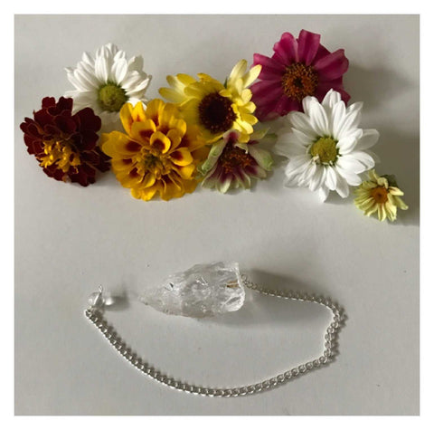 Pendulum Crystal Clear Quartz Natural