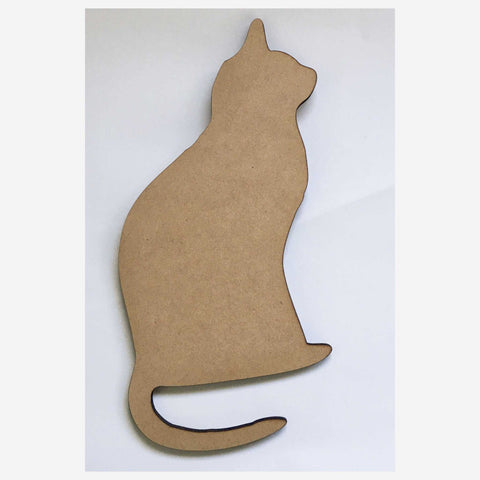 Cat kitty Cats MDF Shape Raw Cut Out Art