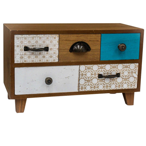 Cabinet Draws Storage Rustic Blue | The Renmy Store