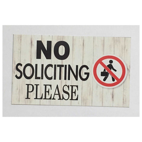 No Soliciting Please Sign