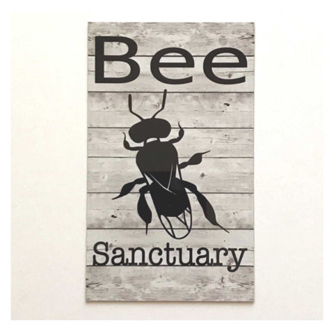 Bee Native Sanctuary Sign | The Renmy Store
