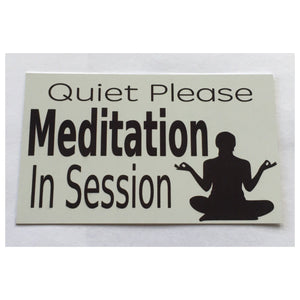 Quiet Please Meditation In Session Sign Wall Plaque or Hanging Massage - The Renmy Store