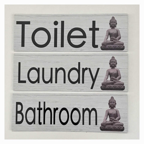 Buddha Toilet Laundry Bathroom Door Sign - The Renmy Store