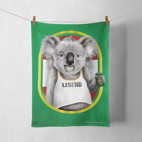 Tea Towel Koala Legend Mate | The Renmy Store