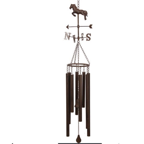 Wind Chime Horse with Weather Vane