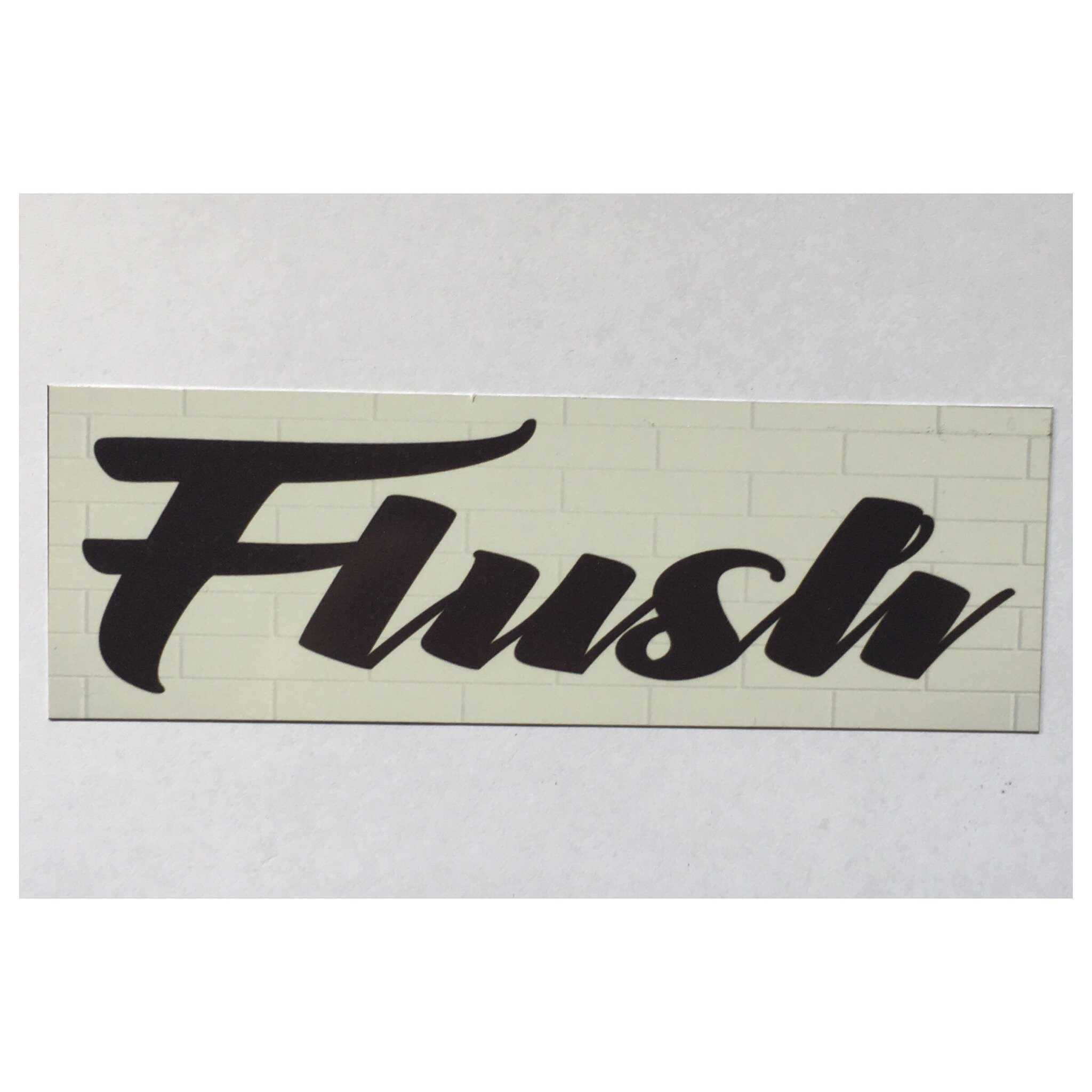 Flush Toilet Sign - The Renmy Store