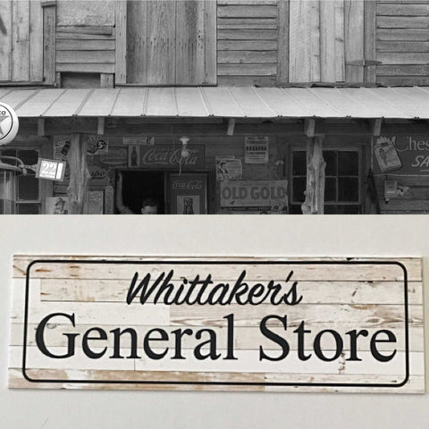 General Store Pantry Name Custom Personalised Text Sign | The Renmy Store