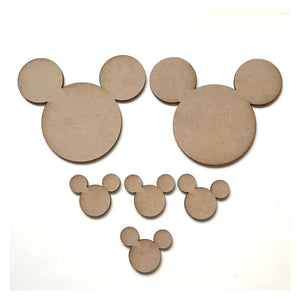 Mouse Set of 6 Kids Cartoon Raw MDF DIY Craft - The Renmy Store