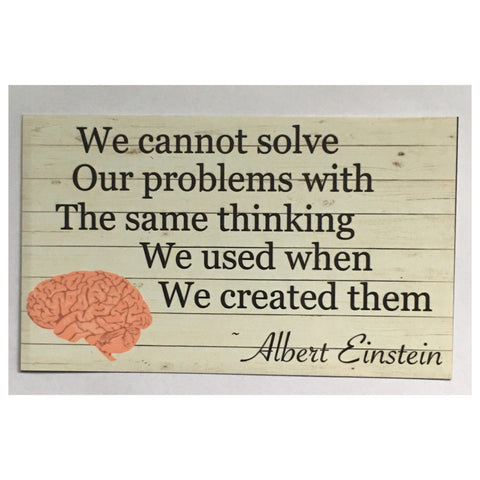 Problems Albert Einstein Sign Wall Plaque Or Hanging - The Renmy Store