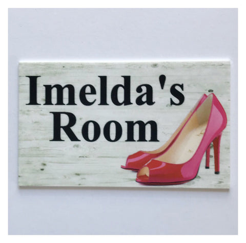 Shoe Room with your Name Custom Sign