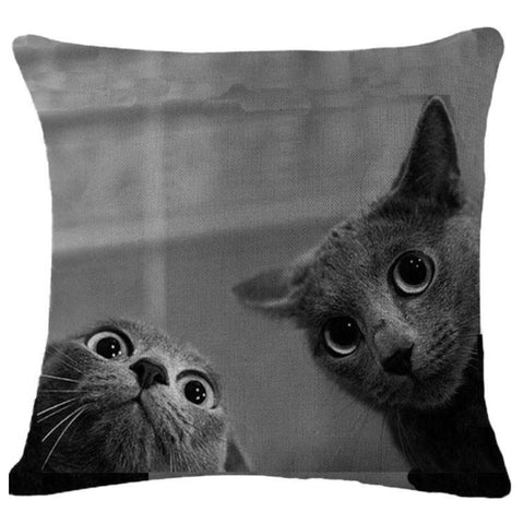 Cushion Pillow Two Cat Cats - The Renmy Store