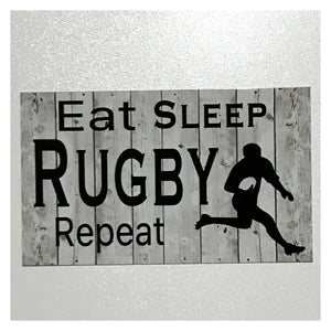 Rugby Footy Ball Sign Plaque Hanging or Plaque Sport