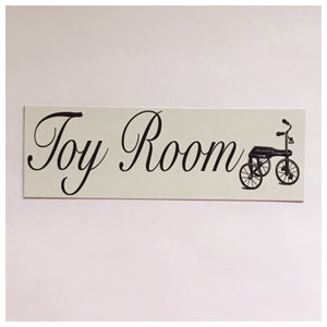 Toy Room Kids Bike Children Sign