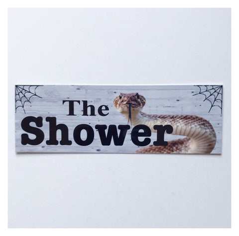 The Shower with Snake Outback Sign