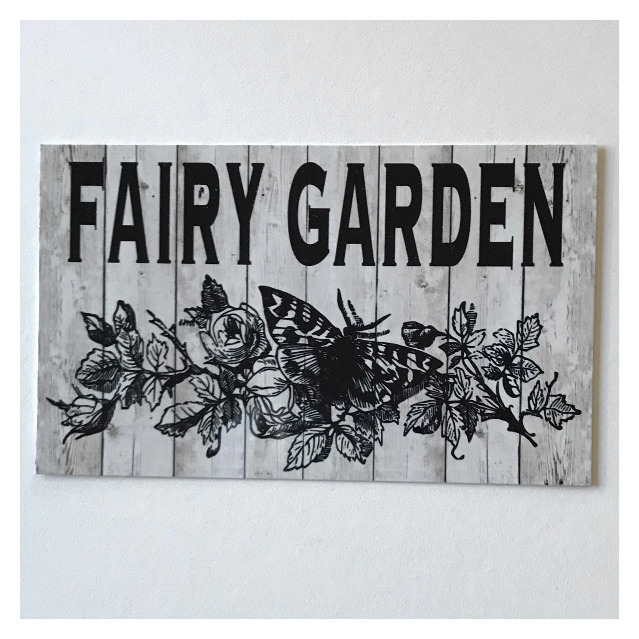 Fairy Garden with Butterfly Sign