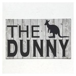 Toilet The Dunny with Kangaroo Sign Wall Plaque Or Hanging - The Renmy Store