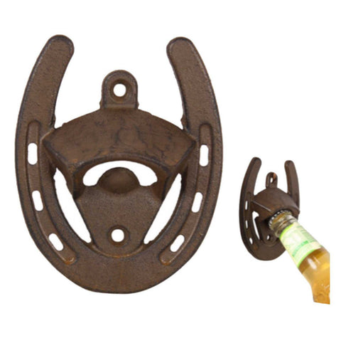 Horse Shoe Wall Bottle Opener