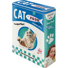 Cat Kitty Food Storage Tin Vintage Retro | The Renmy Store