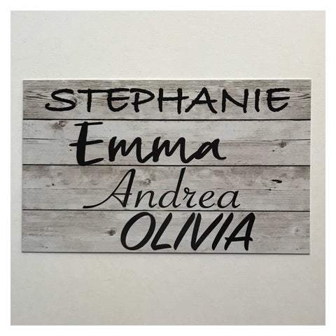 Coop Chicken Hen Rooster House Custom Names Grey Sign Plaques & Signs The Renmy Store